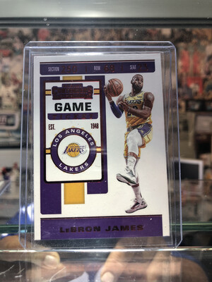 LEBRON James 2019-20 Panini Contenders Los Angeles Lakers Game Ticket Red Base no.70