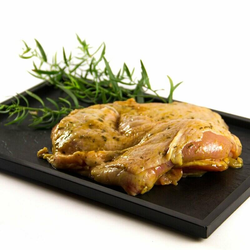 Cuisse de poulet sans os marinée à l'estragon (200gr)