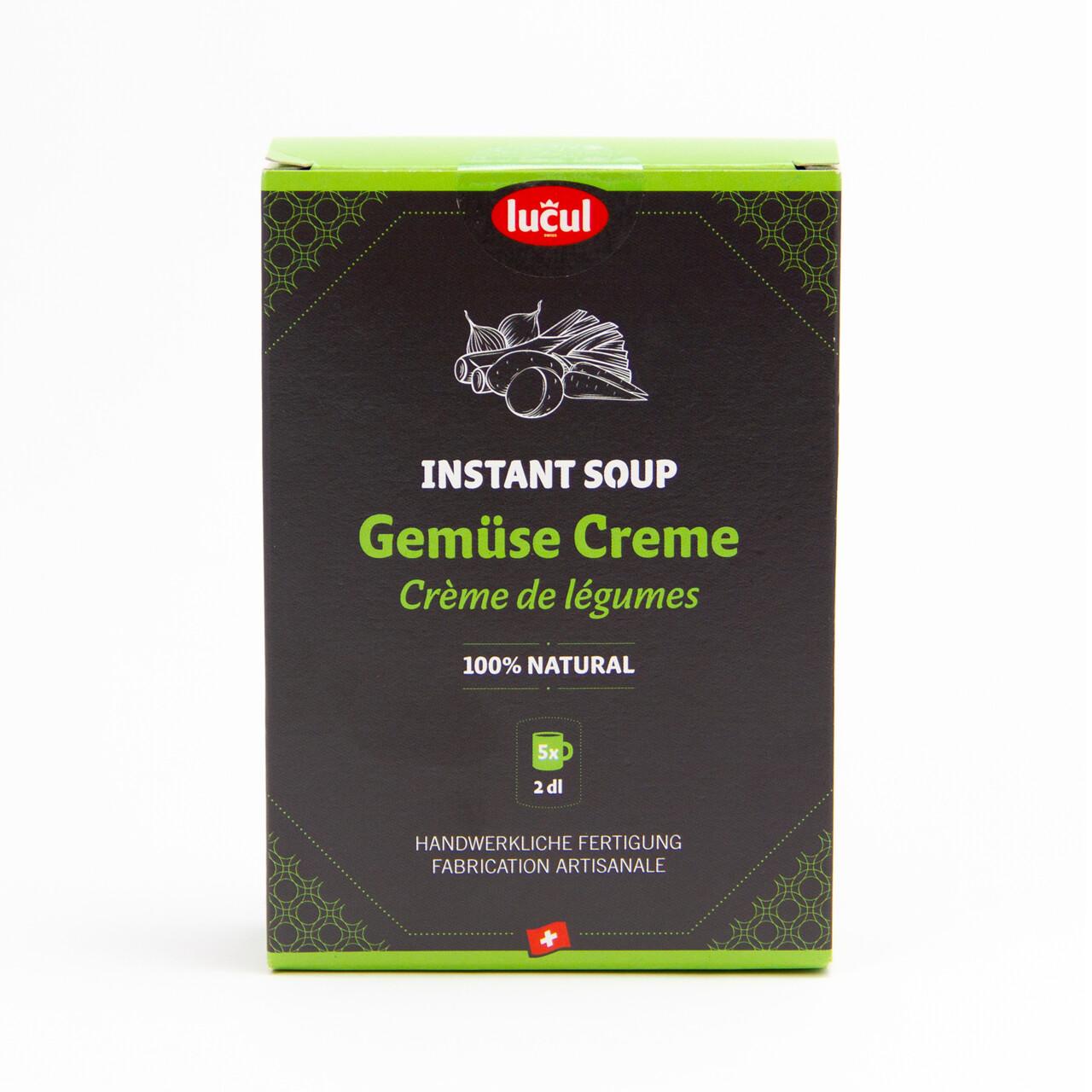 Instant soupe- crème de légume 100% naturel