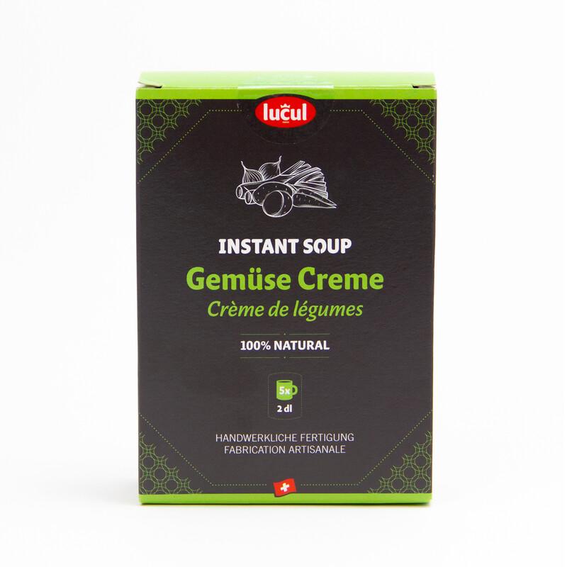 Instant soupe - crème de légume 100% naturel