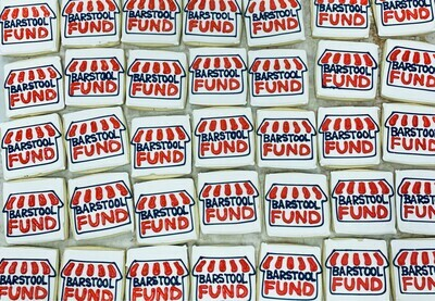 *SHIPPED* Barstool Fund cookies, 6 pack
