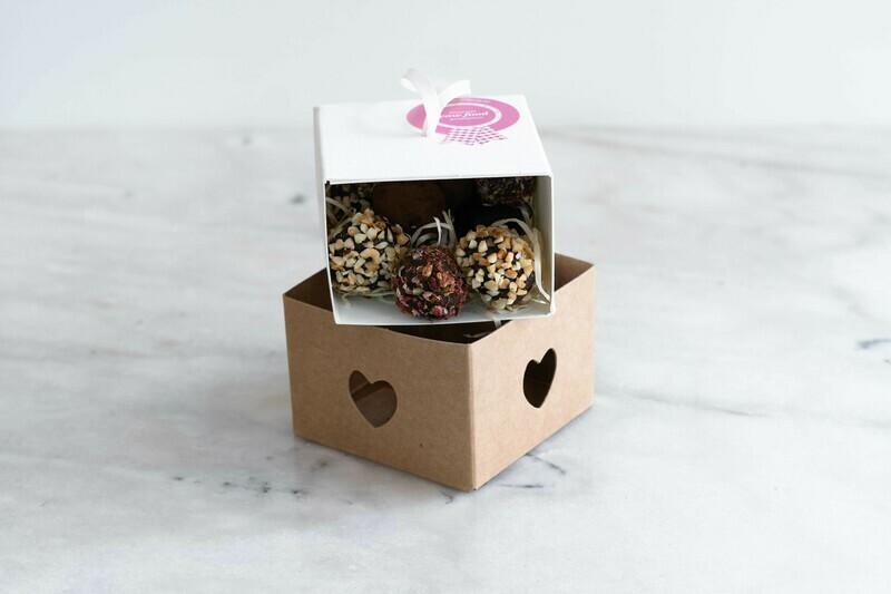 Herz Trüffelbox Geschenksverpackung *bio