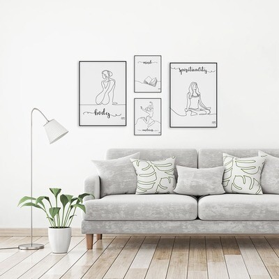 Plakaty #4roomsmethod - Linearne 2