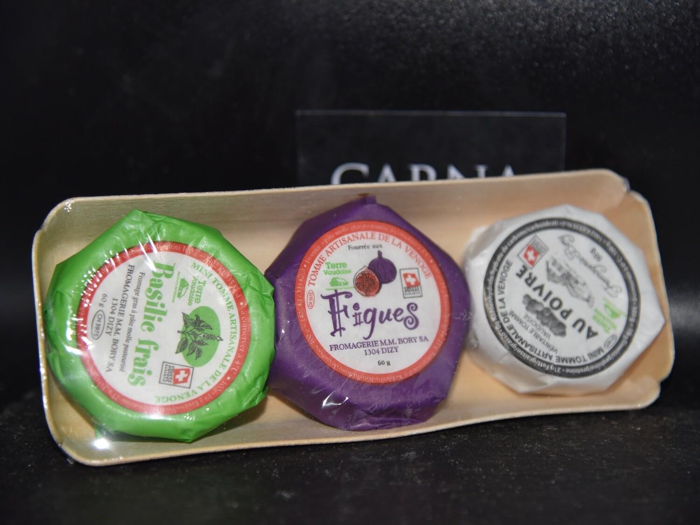 Tomme artisanale aux figues/poivres/basilic