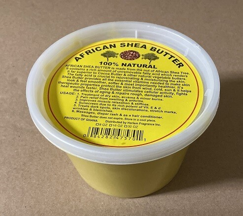 African yellow shave butter