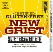 Lakefront New Grist Gluten-Free Pilsner - 12 oz bottle