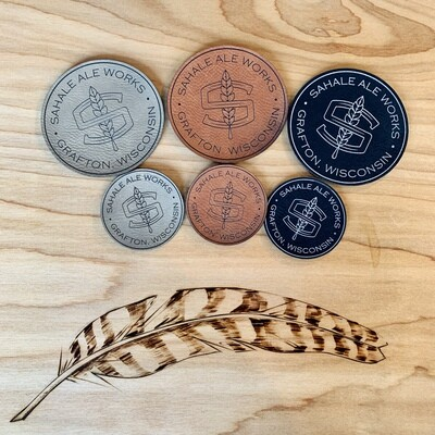 Laser Engraved Leather Patches