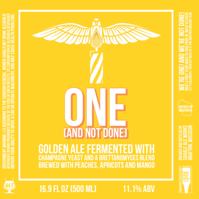 ONE (AND NOT DONE) First Year Anniversary Ale - 500 ml bottle