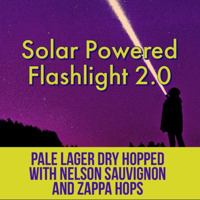 Solar Powered Flashlight 2.0 - 16oz can