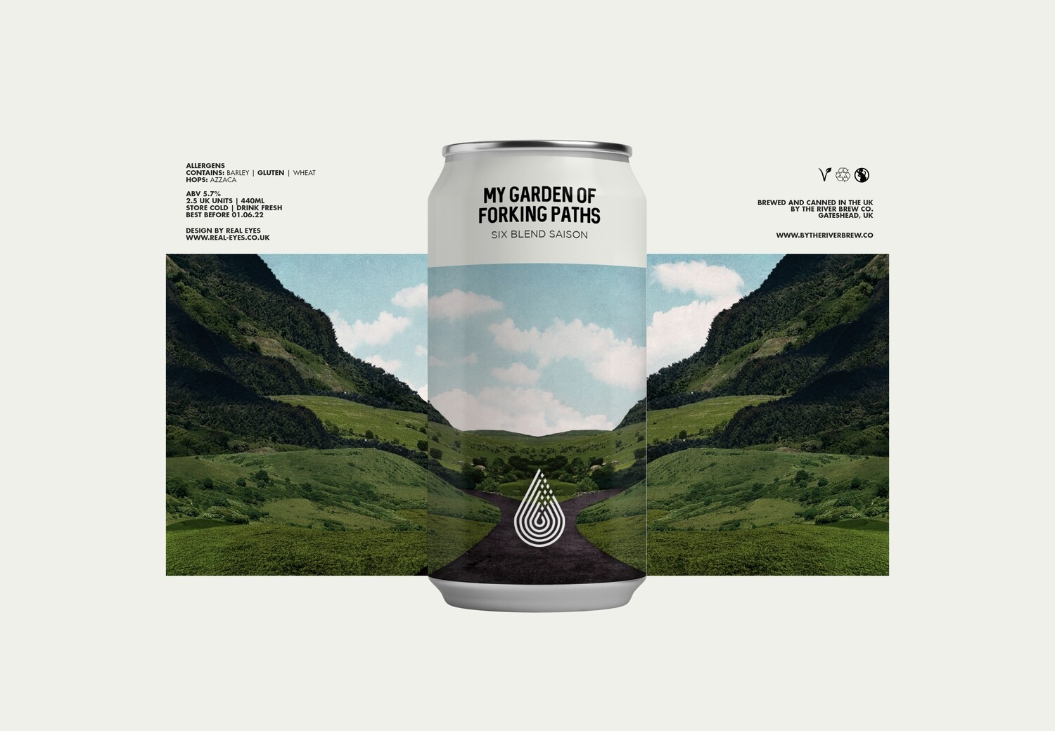 My Garden Of Forking Paths | Six Blend Saison | By The River Brew Co. | ABV 5.7% | 1 x 440ml Can