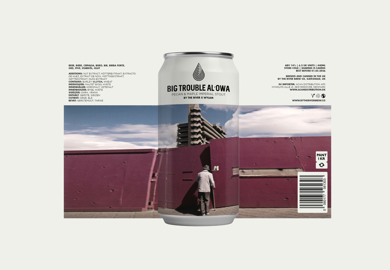 Big Trouble Al'Owa (By The River Brew Co. Collab.)   Pecan Maple Twist Imperial Stout   ABV 14.0%   1 x 440ml Can