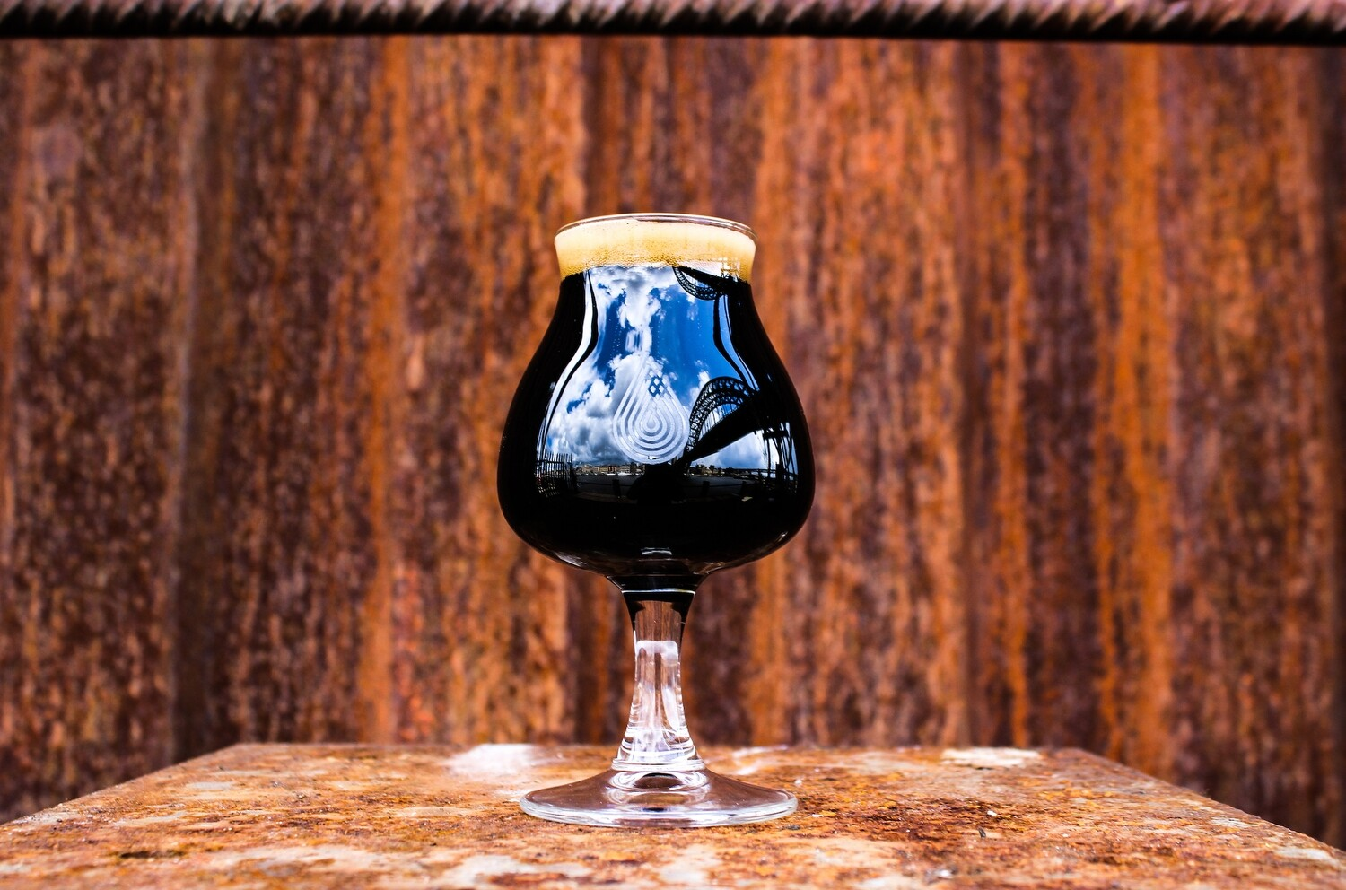 By The River Brew Co. Stout Glass