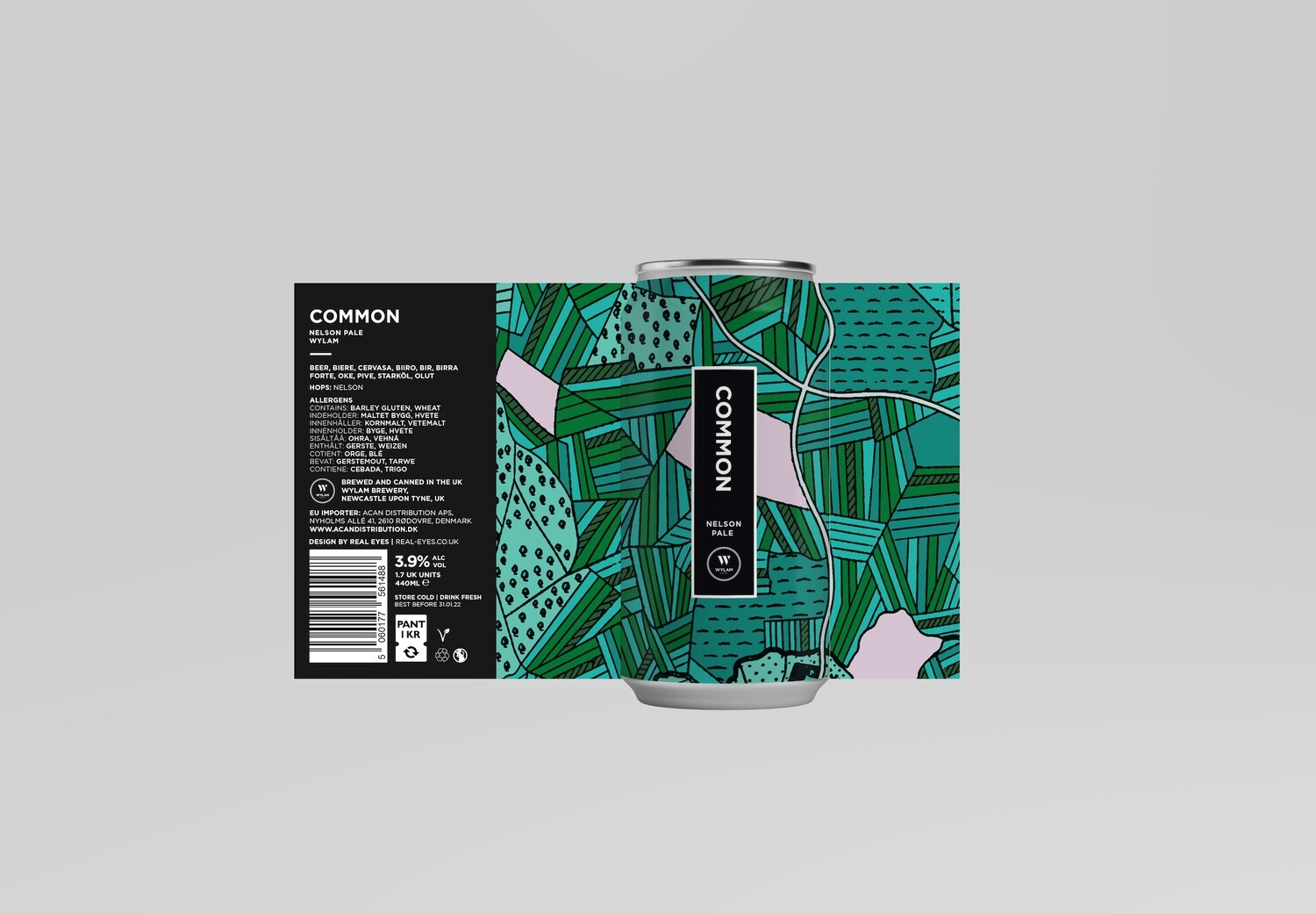 Common | Nelson Pale | ABV 3.9% | 1 x 440ml Can