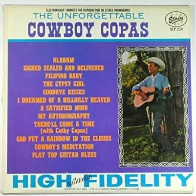 """Cowboy Copas """"The Unforgettable..."""" VG+ 1963 *MONO*"""