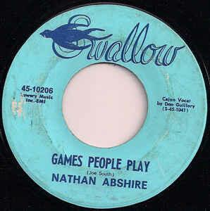 "Nathan Abshire ""Games People Play/La Valse De Bayou Teche"" *45* VG+ 1970"
