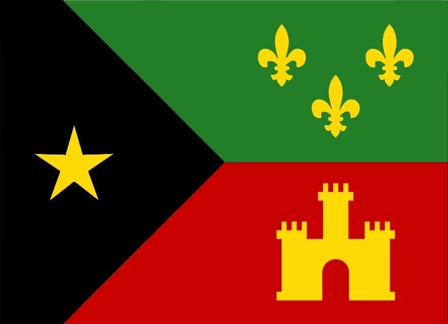 Acadiana Black Pride *flag* (rectangle)