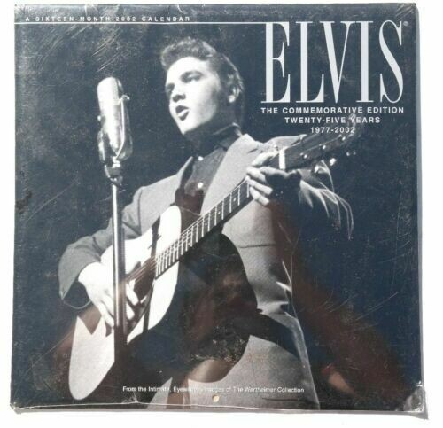 "ELVIS PRESLEY ""THE COMMEMORATIVE EDITION: 25 YEARS 1977-2002"" *CALENDAR*"