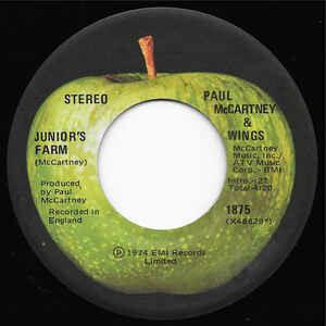 "Paul McCartney & Wings ""Junior's Farm / Sally G"" *45* VG+ 1974"