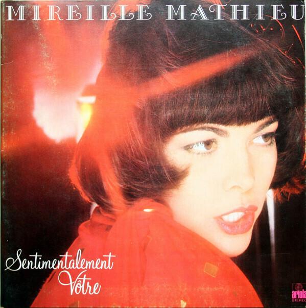 """Mireille Mathieu """"Sentimentalement Vôtre"""" VG+ 1977"""