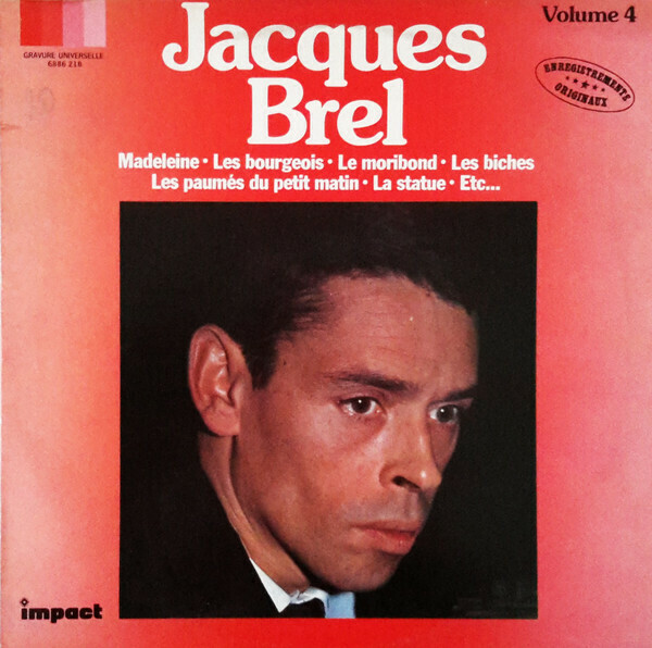 "Jacques Brel ""Volume 4"" NM 1980"