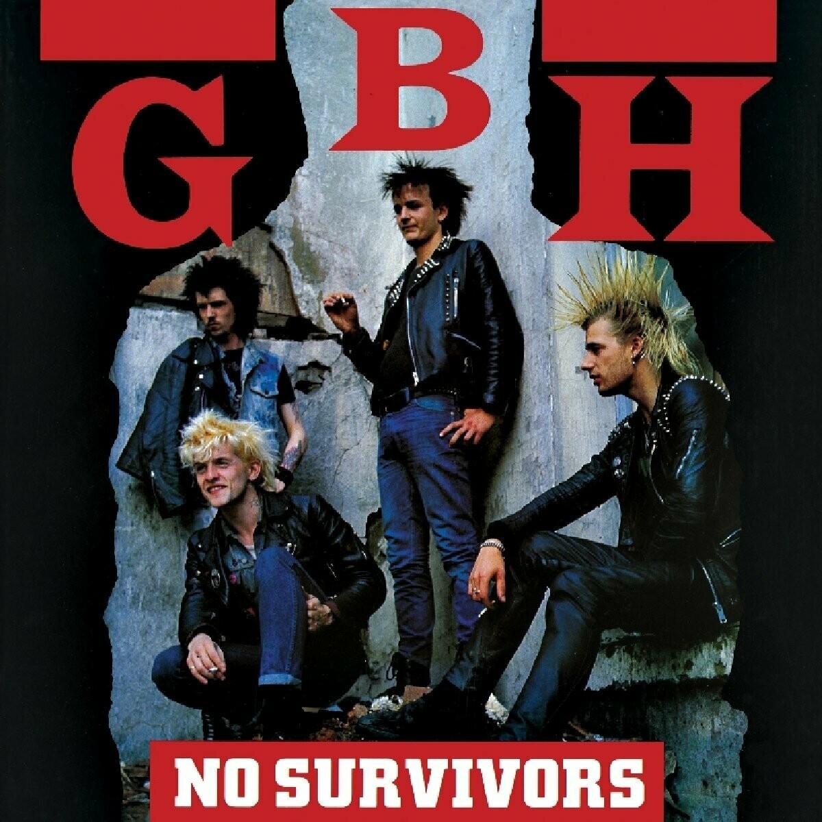 "GBH ""No Survivors"" NM 1989/re.2014 *red vinyl!*"