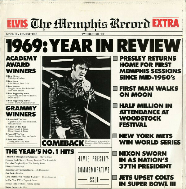 "Elvis Presley ""The Memphis Record"" EX+ 1987 {2xLPs!}"