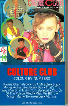 """Culture Club """"Colour By Numbers"""" *TAPE* 1983"""