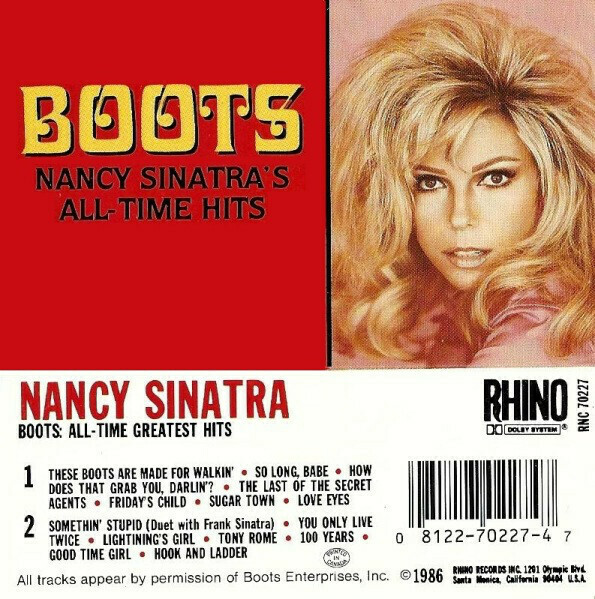 "Nancy Sinatra ""Boots: Nancy Sinatra's All-Time Hits"" *TAPE* 1986"