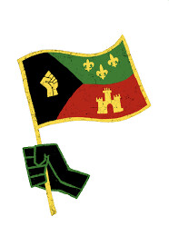 Acadiana Black Pride (waving flag sticker)