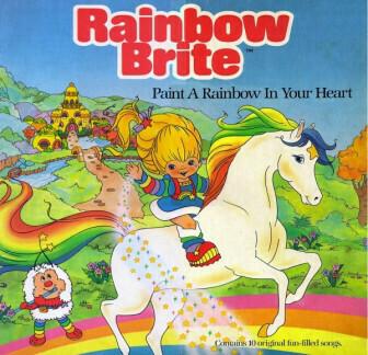 "Rainbow Brite ""Paint A Rainbow In Your Heart"" VG+ 1984"