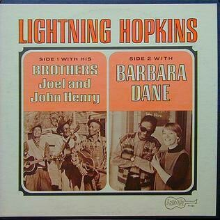 """Lightning Hopkins """"With His Brothers.."""" VG+ 1966"""