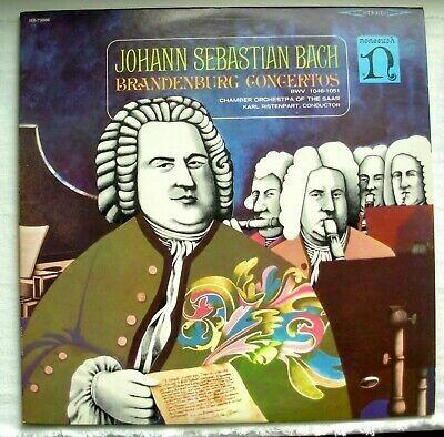 "Bach ""Brandenburg Concertos"" VG+ 1965 {2xLPs!}"