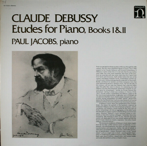 """Debussy """"Etudes For Piano, Books I&II"""" VG+ 1976"""