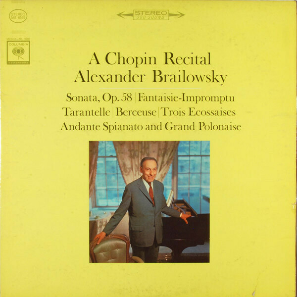 "Alexander Brailowsky ""A Chopin Recital"" NM- 1962"