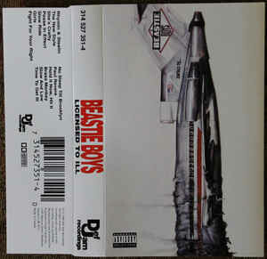 "Beastie Boys ""Licensed To Ill"" *TAPE* 1986"