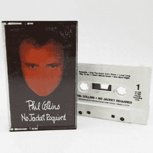 """Phil Collins """"No Jacket Required"""" *TAPE* 1985"""
