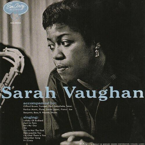 """Sarah Vaughan """"Sarah Vaughan"""" VG+ 1955/re.1981 *MONO*"""
