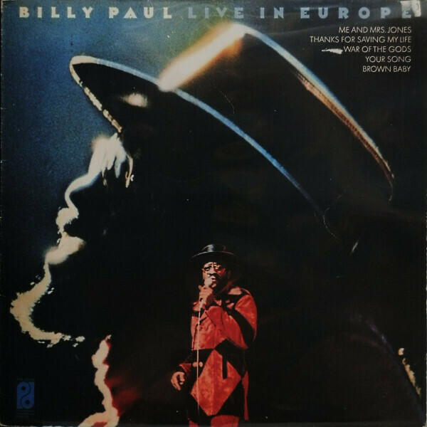 "Billy Paul ""Live In Europe"" VG+ 1974 *QUAD*"