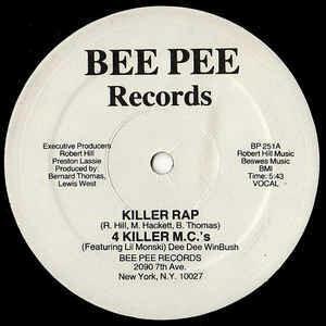 "4 Killer M.C.'s feat. Lil Monsky ""Killer Rap"" {12""} EX+ 1984"
