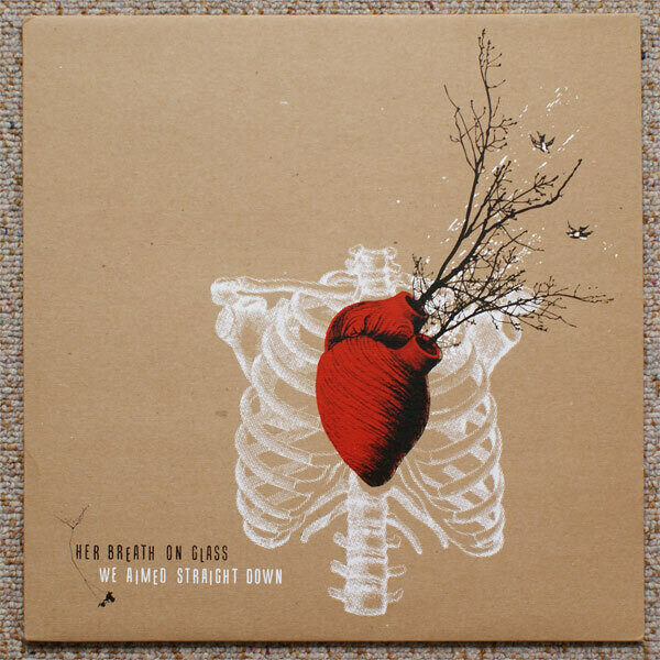 """Her Breath On Glass """"We Aimed Straight Down"""" NM- 2008 (red/black vinyl!)"""