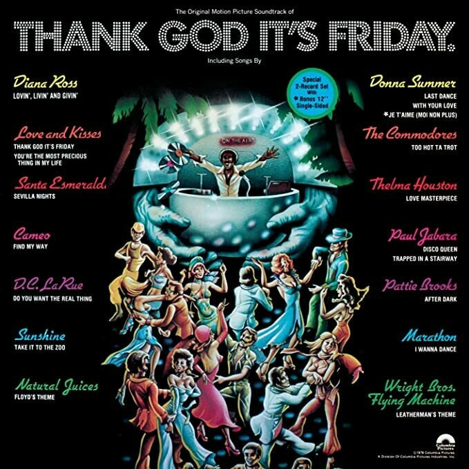 "Various ‎""Thank God It's Friday (OST)"" EX+ 1978 {3xLPs!}"
