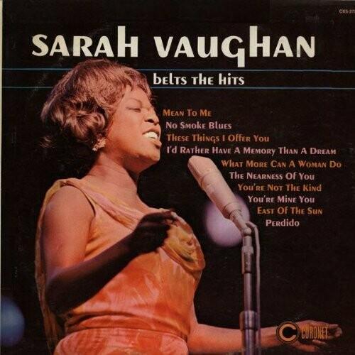 "Sarah Vaughan ""Belts The Hits"" VG 1966"