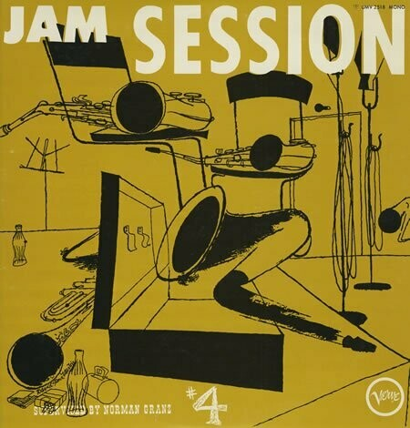 "Various ""Norman Granz' Jam Session #4"" EX+ 1956/re.1978"