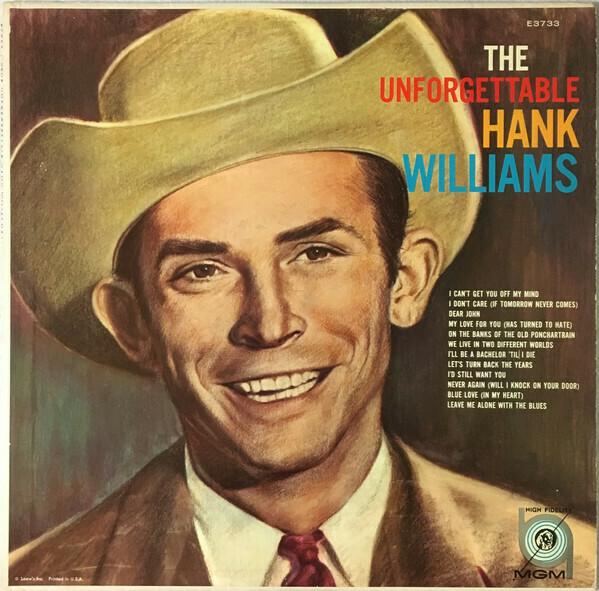 "Hank Williams ""The Unforgettable..."" VG+ 1959 *MONO*"