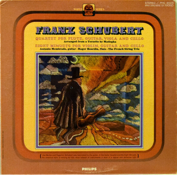 "Franz Schubert ""Guitar Quartet And Eight Minuets"" VG+ 1970"