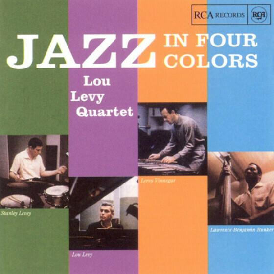 """Lou Levy Quartet """"Jazz In Four Colors"""" VG 1958 *MONO*"""