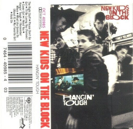 "New Kids On The Block ""Hangin' Tough"" *TAPE* 1988"
