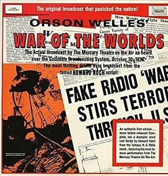 "Orson Welles ""War Of The Worlds"" VG+ 1968"