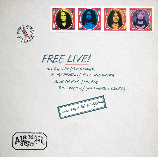 "Free ""Free Live!"" EX+ 1971/re.1973"