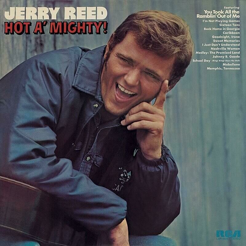 """Jerry Reed """"Hot A' Mighty!"""" VG+ 1973 *DE press!*"""